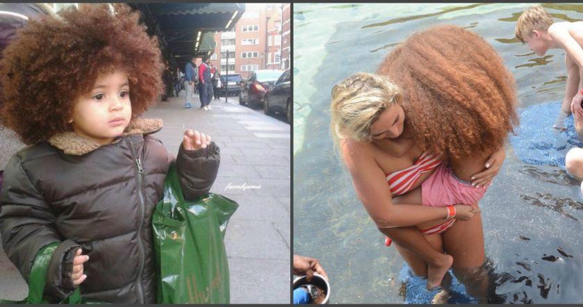 Փոքրիկ, որը իր յուրահատուկ մազերի շնորհիվ մեծ գումարներ է վաստակում.(Photo)