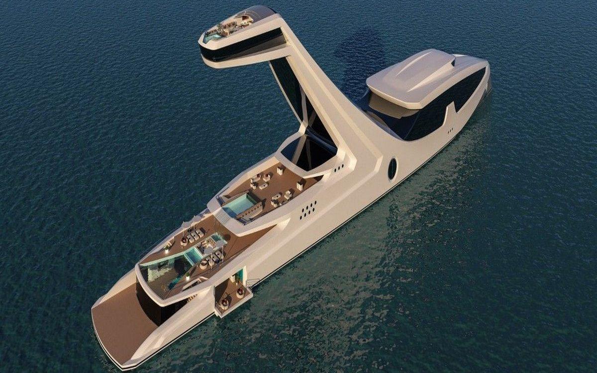 Ճոխության նոր գագաթնակետ,այս նավը 250 000 000 $ է,նրա առավելությունը նավախցիկն է«սուպեր զբոսանավ»  (Photo)․