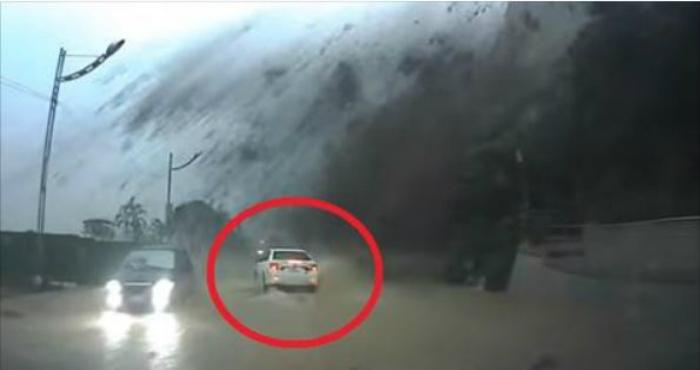 Սա իսկական հրաշք է. Նայեք սպիտակ մեքենային և տեսեք, թե վարորդն ինչպես ականատես եղավ անհավանական երևույթի