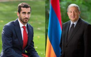 Հանրապետության նախագահ Արմեն Սարգսյանը հեռախոսազրույց է ունեցել Հենրիխ Մխիթարյանիհետ