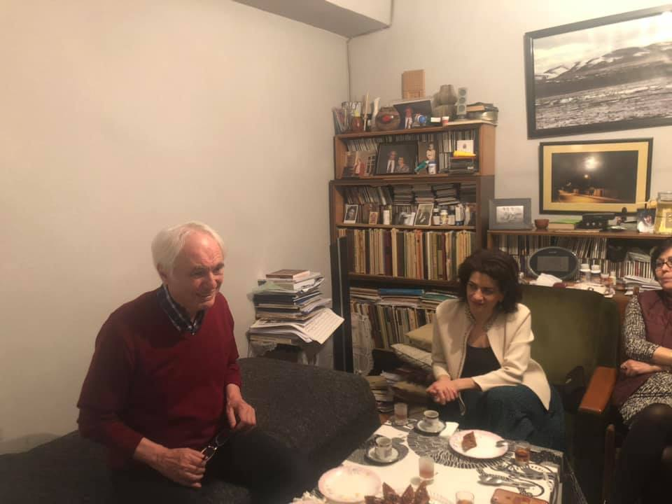 ՀՀ Վարչապետ Նիկոլ Փաշինյանի և իր տիկնոջ` Աննա Հակոբյանի անակընկալ այցը Տիգրան Մանսուրյանին ծննդյան 80 ամյակի առթիվ