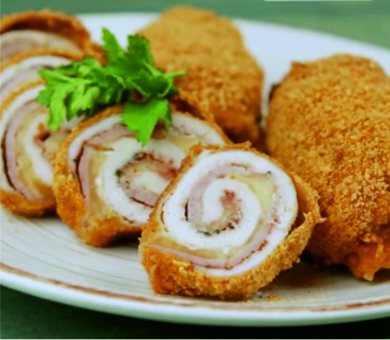 Շատ համեղ և արագ պատրաստվող հավի փափկամսով և պանրով գլանափաթեթներ (рулети)