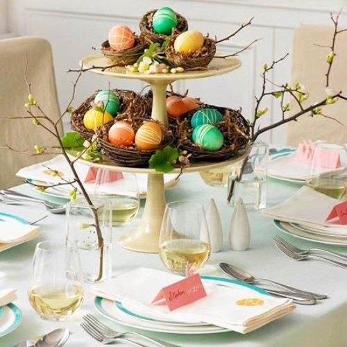 Գեղեցիկ ձեւավորումներ Զատկի տոնական սեղանի համար(ֆոտո)