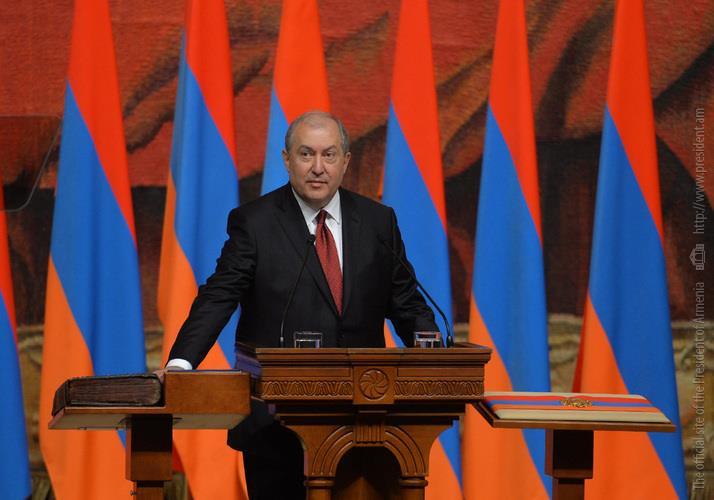 2018թ. ապրիլի 9-ին Արմեն Սարգսյանը ստանձնեց Հայաստանի Հանրապետության Նախագահի պաշտոնը