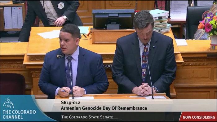 ԱՄՆ-ի Կոլորադո նահանգի սենատը միաձայն ընդունել է ապրիլի 24-ը Հայոց ցեղասպանության հիշատակի օր հռչակելու մասին օրինագիծը