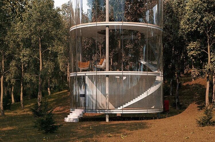 Ղազախ դիզայները պատրաստել է մի շքեղ ապակե տուն `ծառի շուրջ,  խողովակների տեսքով, դուք ևս կցանկանայիք նման տուն ունենալ