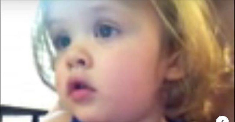 Փոքրիկ աղջիկը լաց եղավ, երբ տեսավ ծնողների հարսանեկան լուսանկարները