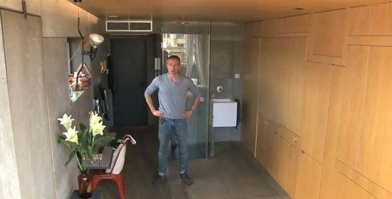 Այս տղան գնել է տարածք՝ 23 ք.մ. եւ վերածել այն անհամեմատ հարմարավետ բնակարանի