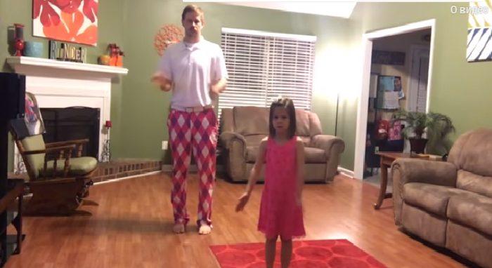 Աղջնակի և նրա հոր կրակոտ պարային կատարումը, սա միայն տեսնել է պետք