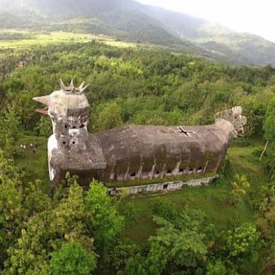 """""""Հավ"""" տաճար Ինդոնեզիայում՝ որտեղից է այն այնտեղ հայտնվել"""