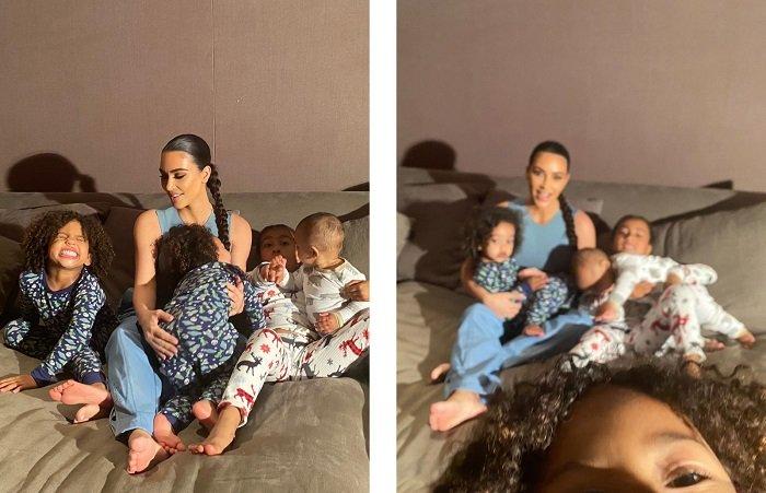 Երեխաների հետ գերության մեջ. Քիմ Քարդաշյանն  իր ընտանիքի հետ միասին լուսանկարվել  է ամսագրի համար.  լուսանկարներ