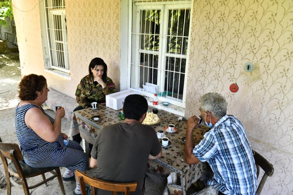 Աննա Հակոբյանը երեկվանից Տավուշի մարզի սահմանապահ գյուղերում է