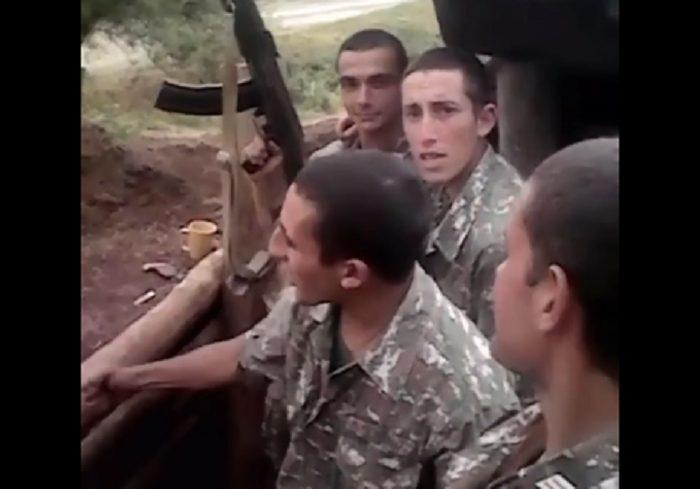 """Բացառիկ տեսանյութ սահմանից. Մեր զինվորների խրոխտ երգը դիրքերից. """"Ընկեր ջան, գինի լից..."""""""