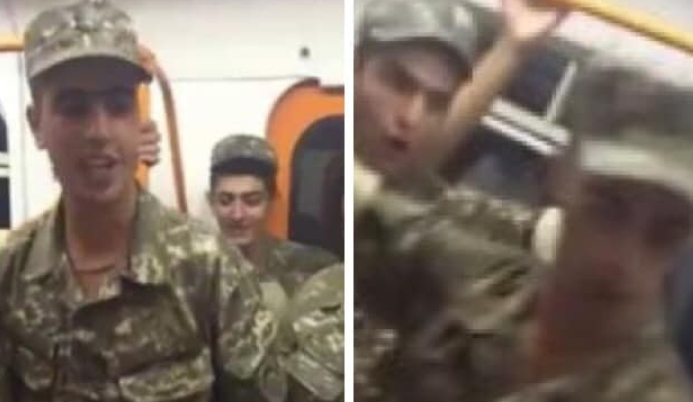 Մեր զինվորների հրաշալի երգն ու պարը՝ մետրոյի վագոններից մեկում. այն դիտել է պետք