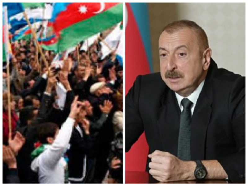 Պատերազմից ընկճված Ադրբեջանի քաղաքացիները պահանջում են Ալիևի հրաժարականը