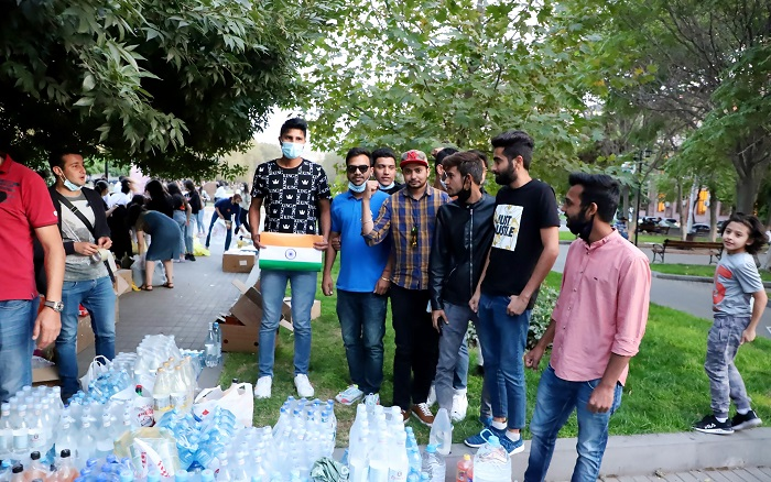 Արցախում գտնվող զինվորներին օգնելու համար իրենց ներդրումն են ունեցել նաև Հայաստանում գտնվող հնդիկները