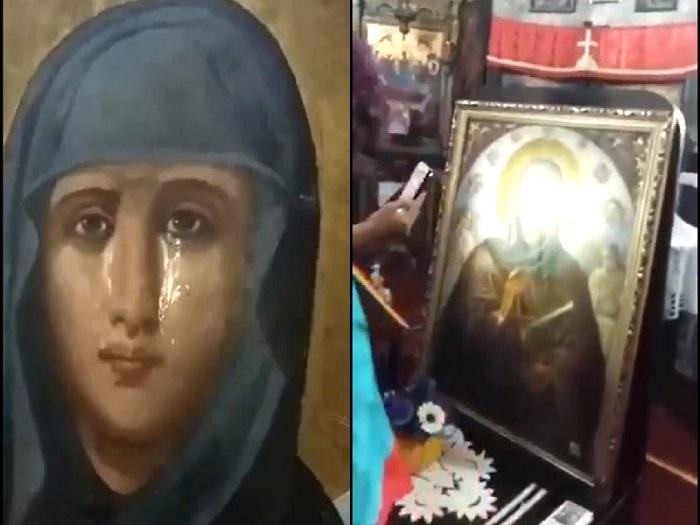 Նոր տեսանյութում հստակ երևում է, որ ինչպես է Մարիամ Աստվածածինը նկարում լալիս