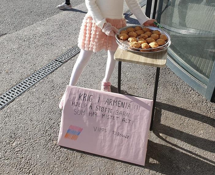 Նորվեգիայում ապրող բալիկը թխվածք է վաճառում՝ գումարը հայկական հիմնադրամին փոխանցելու համար