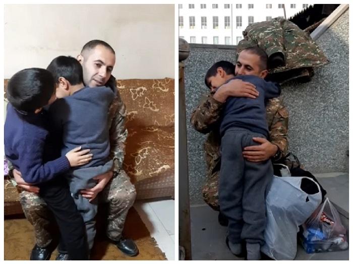 """Զինվորական հոր և որդիների հուզիչ հանդիպումը. """"Կարոտած"""""""