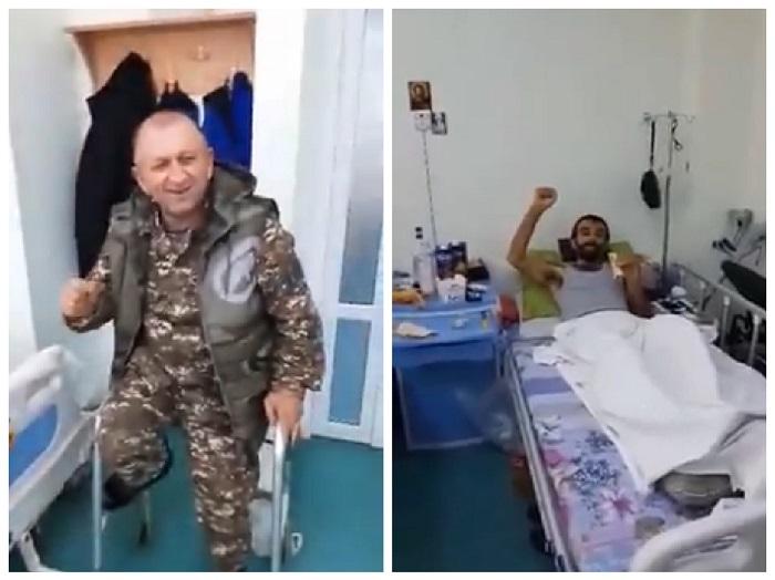 Հիվանդանոցում բուժվող զինվորների և նրանց հրամանատարի ոգեշունչ երգը. հուզիչ տեսարան