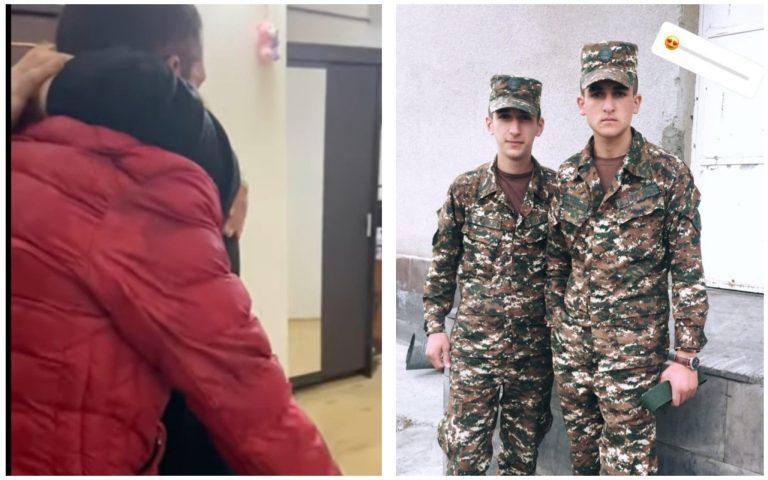 Անհայտ կորած զինվորի ընկերը 7 օրով արձակուրդ է եկել, ծաղկեփնջով այցելել ընկերոջ ծնողներին