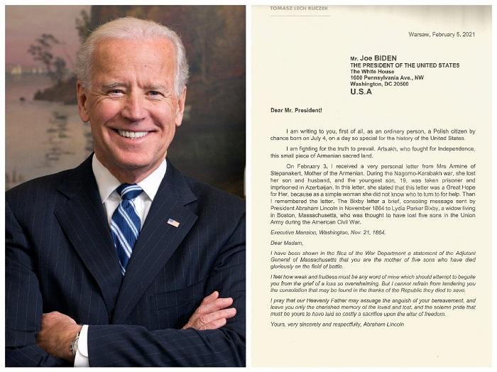 Ահա թե ինչպիսի նամակ է գրել լեհ քաղաքական գործիչը հայերի մասին ԱՄՆ նախագահ Ջո Բայդենին